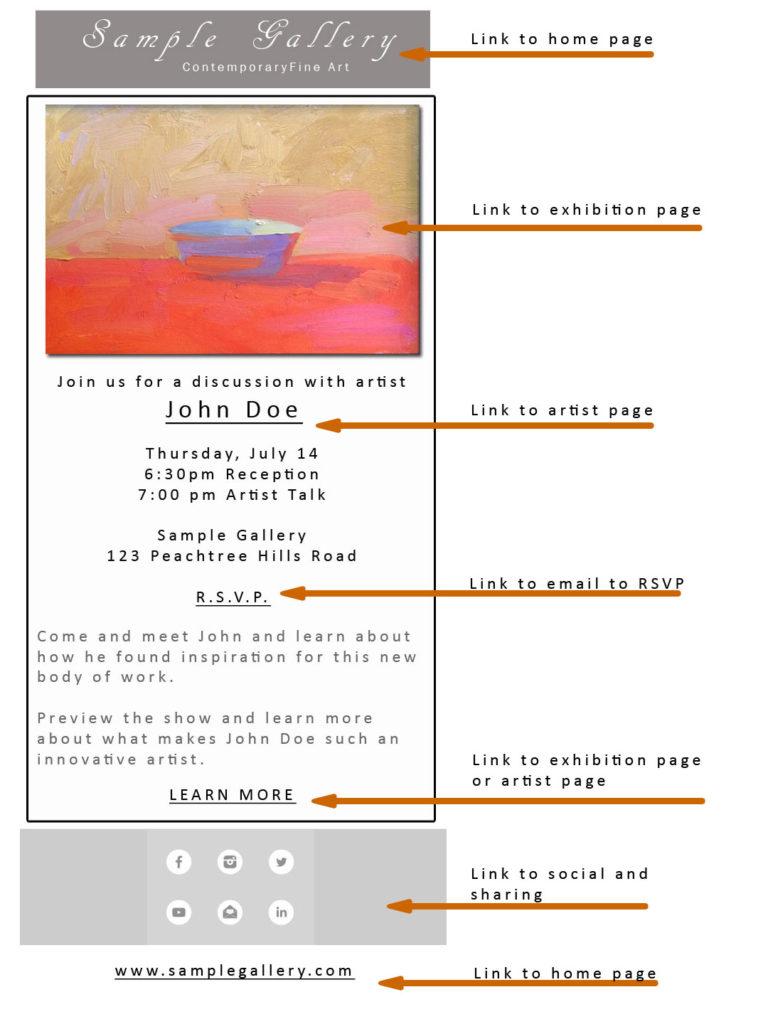 Sample art gallery newsletter