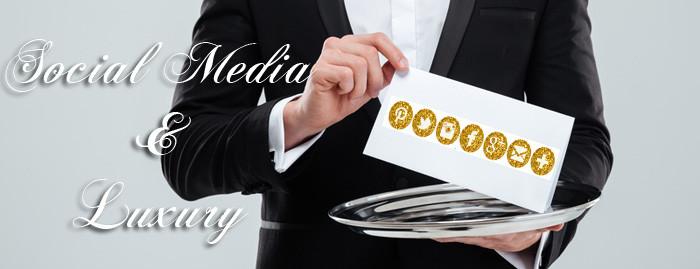 Social media and luxury art gallery