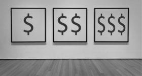 displaying art prices