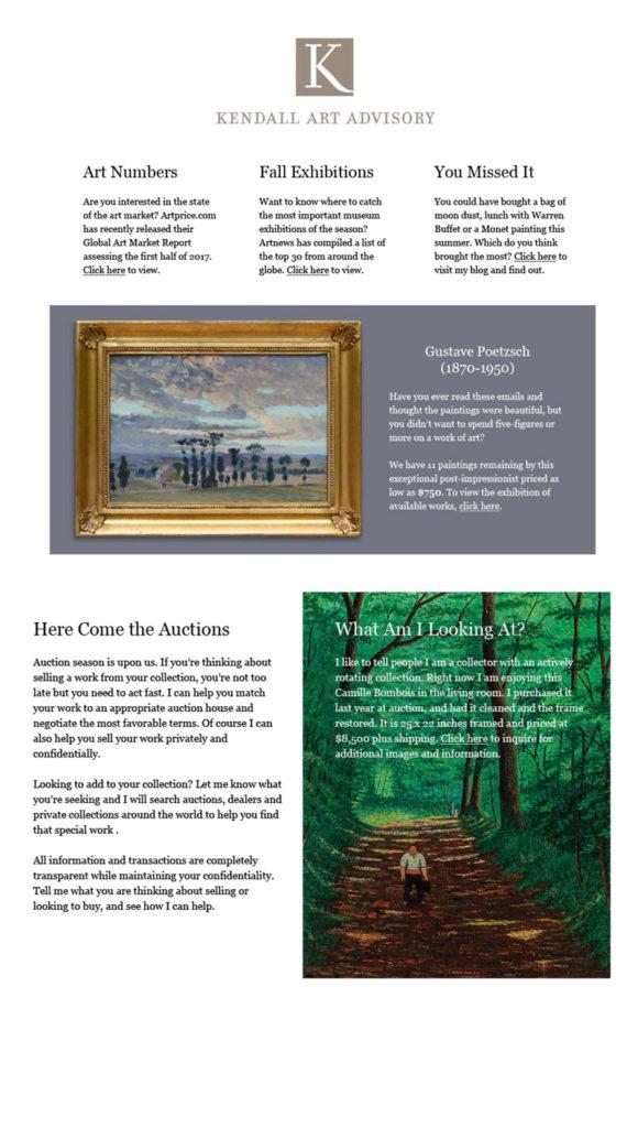 art gallery newsletter
