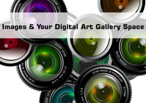 Images and digital art gallery space