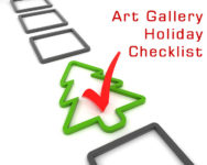 Art gallery holiday sales and marketing checklist