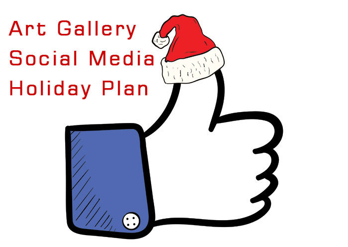 art gallery social media for the holidays
