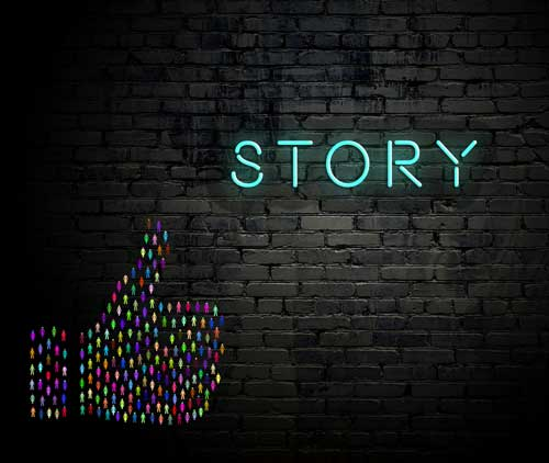 Social media stories for art gallery marketing