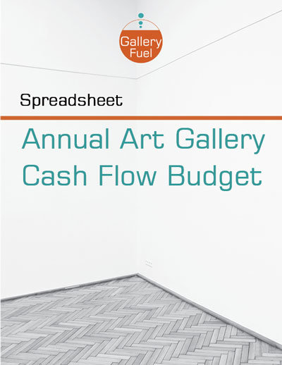 Art Gallery Cash-Flow-Budget-Spreadsheet