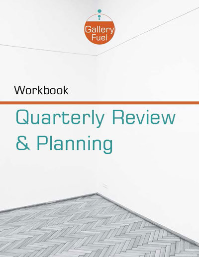 art gallery quarterly business review workbook