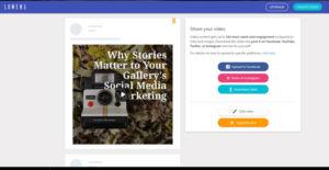 Video creating for social media marketing