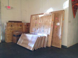 Shipping art to art fairs