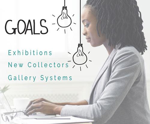 art gallery business goals
