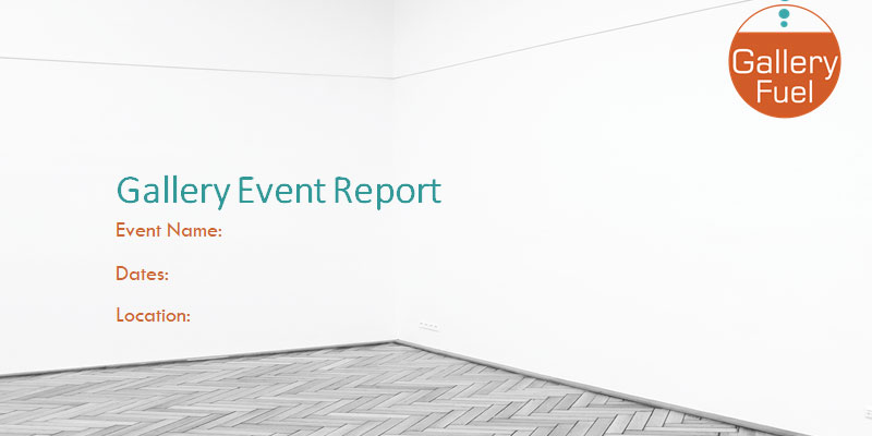 Art Gallery Event Report Template