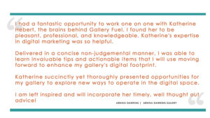 Gallery Fuel Art Gallery Business Advisory Services Testimonial