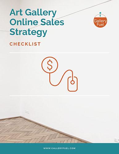 Art Gallery Online sales strategy checklist