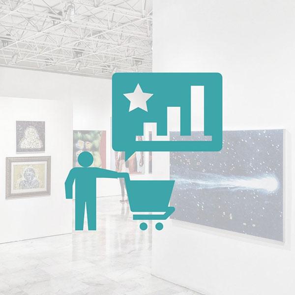 Art gallery customer buying experience